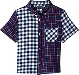 Mix Plaid Short Sleeve Shirt (Big Kids)