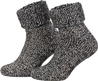 Par de calcetines noruegos mullidos - Ideales para invierno - Lana y ABS