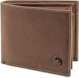 Geldbörse Herren Leder 'Norge' – Tri-Fold Herren-Portemonnaie RFID-Blocker – 6 Karten-Fach, Ausweis-Fach, Großes Zusatzfac...