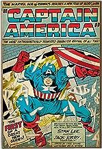 captain america comic book art