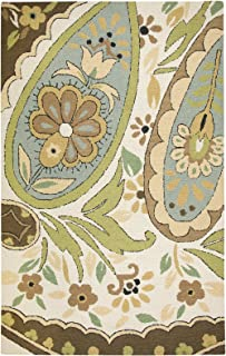 Rizzy Home Country Collection Wool Area Rug, 8' Round, Multi/Gray/Rust/Blue Paisley