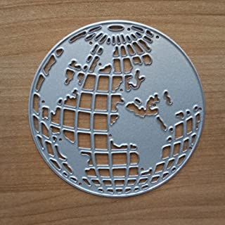 Earth Metal Cutting Dies for Card Making, NOMSOCR Cut Die Metal Stencil Template Mould for DIY Scrapbook Embossing Album Paper Card Craft Birthday Festival Decoration (Earth)