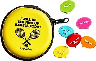 BusyBee Tennis Vibration Dampener in Fun Zipper Gift Pack. Best Shock Absorber (6 Count) Plus a Bonus: Exclusive Mobile App 3 Months Trial