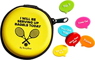 Tennis Vibration Dampener in Funny Zipper Gift Pack (Pack of 6). Best Shock Absorber for Your Racket and Strings