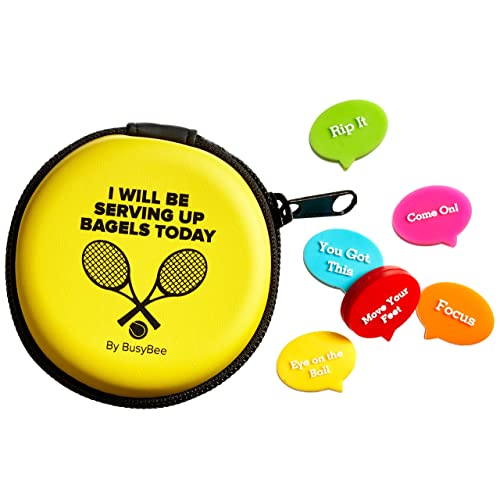 BusyBee Tennis Vibration Dampener in Fun Zipper Gift Pack. Best Shock  Absorber (6 Count 743f9589bfbaf
