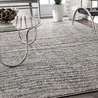 nuLOOM 200BDSM01A-508 Ripple Contemporary Sherill Area Rug, 5' x 8', Grey, Gray