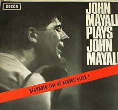 John Mayall - Plays John Mayall Recorded Live at Klooks Kleek - LP record - UK mono Decca LK 4680