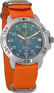 Vostok Komandirskie Black Sea Sunset Mechanical Mens Military Wrist Watch #431976