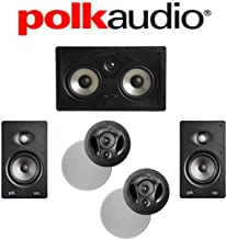 Polk Audio 90-RT + Polk Audio V65 + Polk Audio 255C-RT 5.0 Vanishing Series in-Wall/in-Ceiling Home Theater System