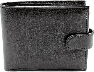 Wallets King - Portefeuille en cuir véritable noir pour homme