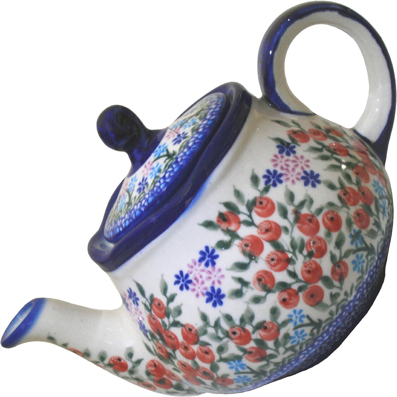 Polish Pottery Ceramika Boleslawiec 0105 3-1 Fruti Charlotte Mall Courier shipping free 282 4 Teapot
