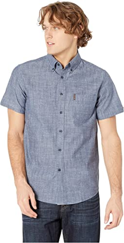Slub Chambray Short Sleeve Shirt