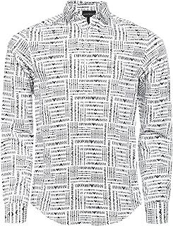 Armani Men's Logo Printed Shirt White