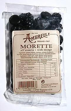 Amarelli - Regaliz Morette - Caramelos De Regaliz Con Naranja - 100 gr