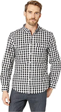Long Sleeve Gingham Two-Pocket Shirt