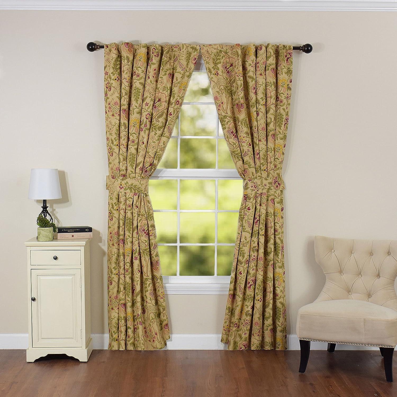 WAVERLY Imperial Dress Window Drapery Pair, 84  x 100 , Antique