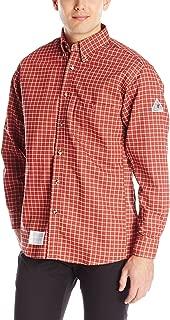 Bulwark Flame Resistant 6.5 oz Cotton/Nylon ComforTouch Plaid Dress Shirt