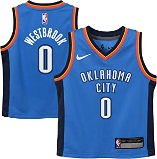 Nike Russell Westbrook Oklahoma City Thunder NBA Infants 12-24 Months Blue Road Icon Edition Player Jersey