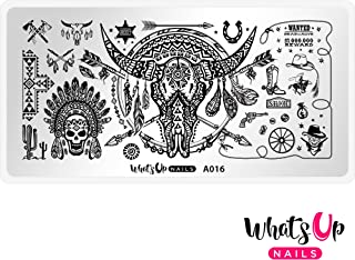 Whats Up Nails - A016 Feelin' Southwestern Stamping Plate for Nail Art Design