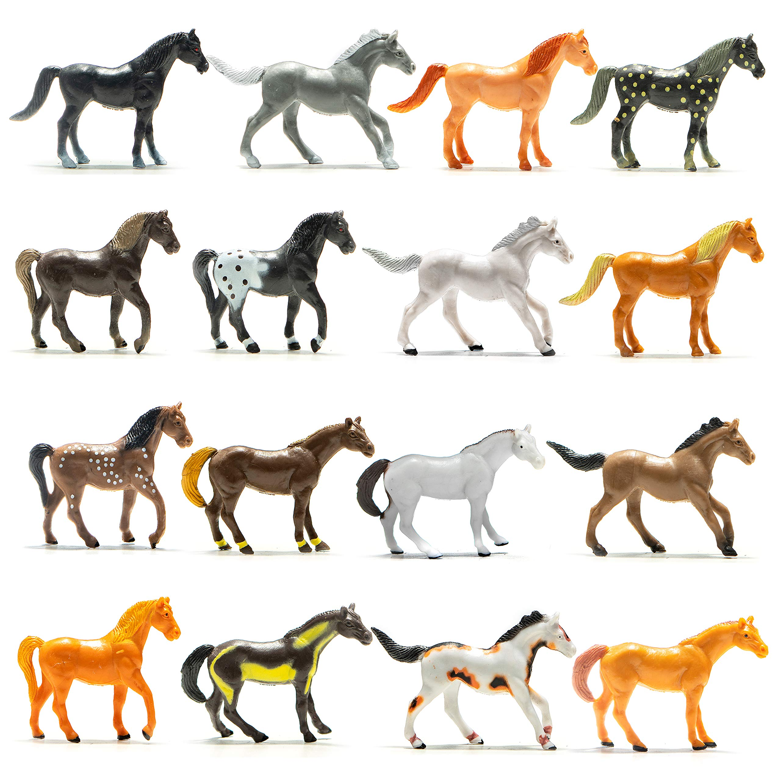 Prextex Plastic Horses Party Favors, 9 Count (All Different Horses in  Various Poses and Colors) Best Toy Gift for Boys