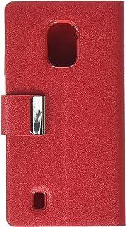 Reiko Wireless Zte Source Flip Folio Card Holder Case in Red - Colored