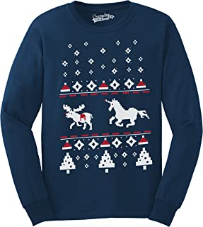 Unicorn Stab Funny Stabbing Ugly Christmas Crew Neck Unisex Sweatshirt