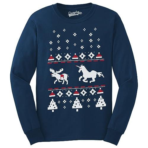 c1051cec Unicorn Stab Funny Stabbing Ugly Christmas Crew Neck Unisex Sweatshirt