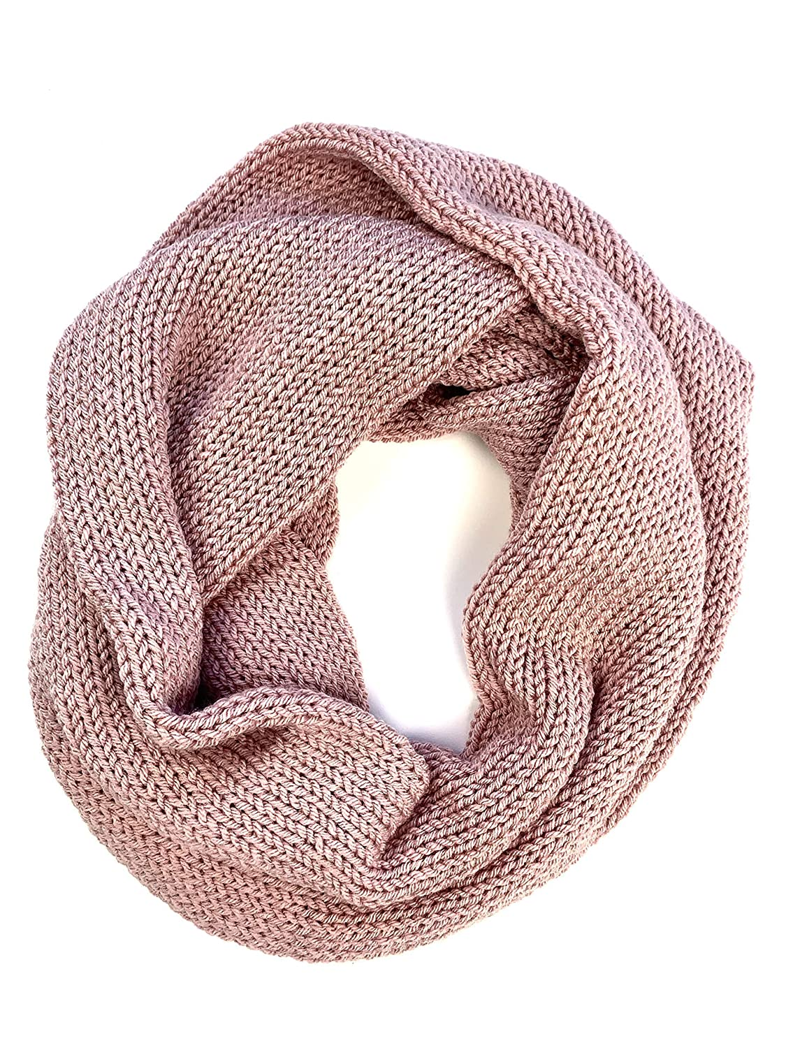 Blush Pink Dusty Rose shipfree Scarf Double Online limited product Knit Infinity