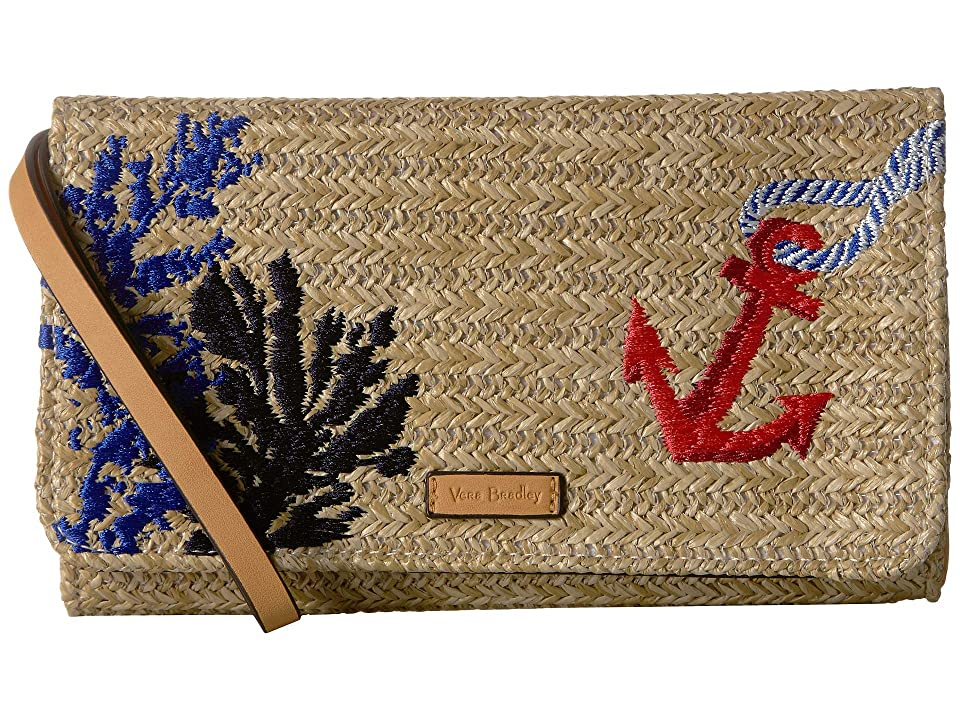 Vera Bradley Straw Beach Wristlet (Natural) Wristlet Handbags