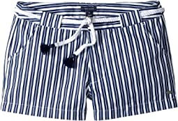 Tommy Hilfiger Kids Stripe Shorts with Novelty Belt (Little Kids/Big Kids)