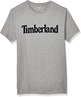 TIMBERLAND Men's Ss Kennebec River Linear (Regular T-Shirt, Grey (Med Grey Heather), Small