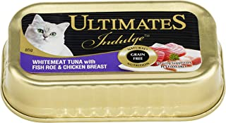 Ultimates Cat Pet Food Whitemeat Tuna with Fish Roe and Chicken Breast, 80 x 85g, 80 Piece