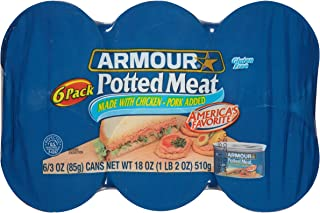 Armour Potted Meat, Chicken and Pork, Keto Friendly, 3 Ounce (Pack of 6)