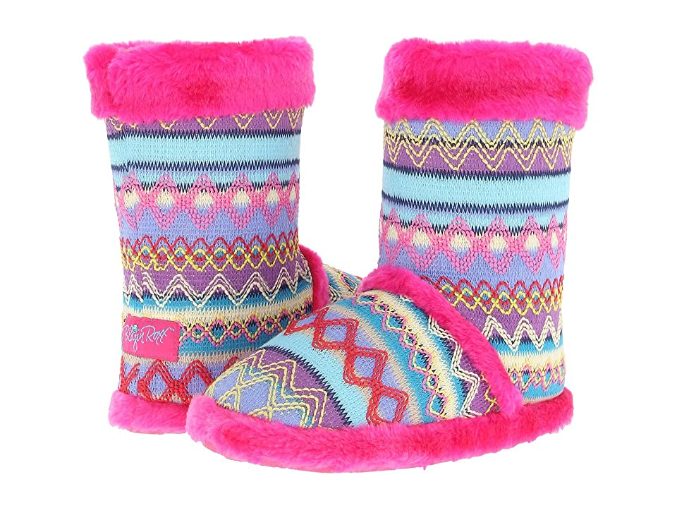 M&F Western Knit Print Bootie Slippers (Hot Pink) Women's Slippers