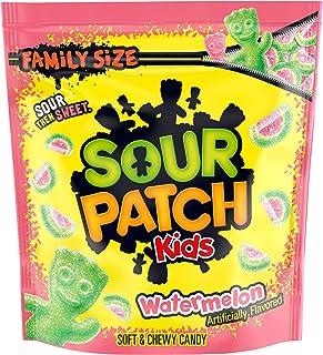 Sour Patch Kids Watermelon Candy, Original Flavor, 1 Family Size Bag (1 Lb 12.8 Oz), 1Count