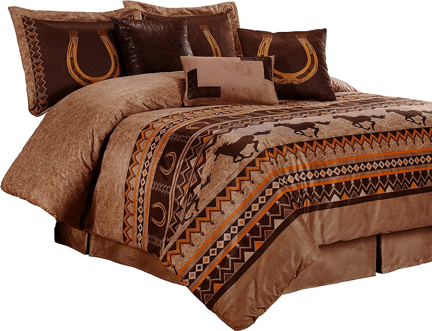 Chezmoi Collection Spring new work one Direct sale of manufacturer after another Sedona 7-Piece Southwestern Wild Micro Horses