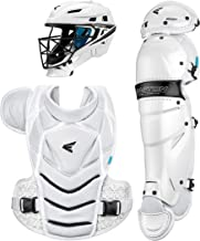 Easton JEN SCHRO The Very Best Female Catchers Protective Box Set, 2021, Helmet - Clear Dri + Aegis Anti-Microbial Liner, 2 Piece Chest Protector, Wrap Around Leg Guards, Black Matte Steel Cage