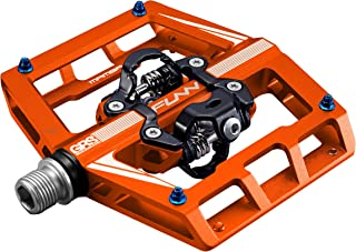 Funn Mamba Mountain Bike Clipless Pedal Set - Double Side Clip Wide Platform MTB Pedals, SPD Compatible, 9/16-inch CrMo Axle