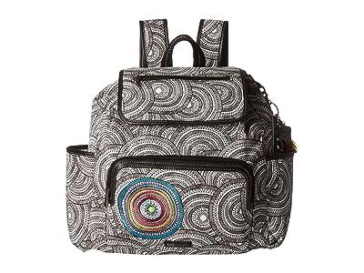 Sakroots Fleetwood Backpack (Black/White Mosaic Wanderlust) Backpack Bags