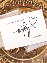 I Can't Wait to be Your Wifey Lifey Wedding Day Card from Bride Black and White Modern Wedding
