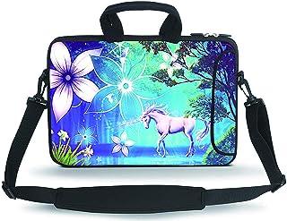 HAPLIVES 12.5 13 15.6 inch Neoprene Laptop Shoulder Bag Messenger Bag Case