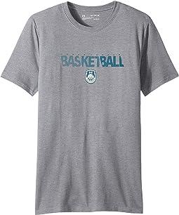 Basketball Wordmark Short Sleeve Tee (Big Kids)