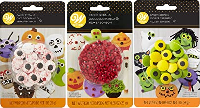 Wilton Halloween Candy Eyeballs Set, 3-Packs