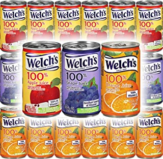 Welch's Apple, Orange, Grape Juice 100% Juice - Variety Pack, 5.5oz (Pack of 18, Total of 99 Oz)