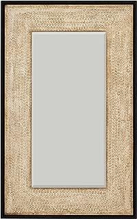 Stone & Beam Rustic Woven Frame Mirror, 48