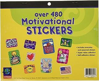 Eureka Jumbo Motivational Sticker Set Back to School Supplies, 480+ pcs.