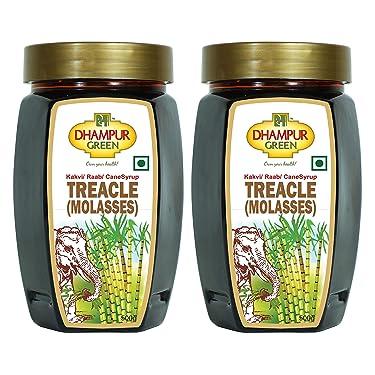 Dhampure Speciality Sugarcane Molasses / Sheera / Kakavi / Raab / Jaggery Sypur (Pack of 2 Each 500g)