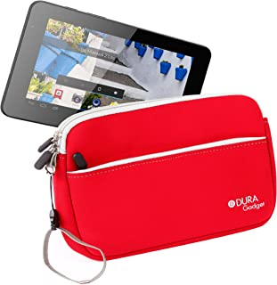 DURAGADGET Funda Roja De Neopreno para Mundo Reader Tablet BQ Maxwell 2 Plus/Maxwell Plus/Maxwell 2 De 7 Pulgadas