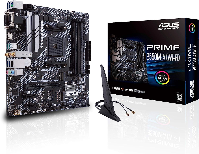 ASUS Prime B20000200000M A Wi Fi Gaming Mainboard Sockel AM20000200000 micro ATX, Ryzen,  PCIe 20000200000.200000, 20000x M.20000, 2000Gbit/s Ethernet, WiFi 2000, SATA 2000Gbit/s, USB 2000.20000 Gen 20000 ...