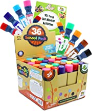 Incredible Value Dot Markers Class Pack in 36 Pack, School and Class Supplies of Dabbers, Daubers, Washable Art Markers in Bulk with Free PDF 101 Dot Markers Activities